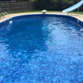This is our family pool that I will be teaching out of.