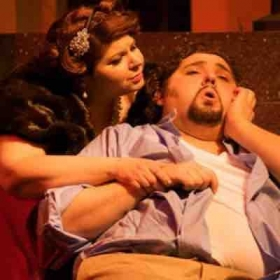 "Jeffrey Hartman as Cavaradossi in ""Tosca"" with Michelle Trainer"