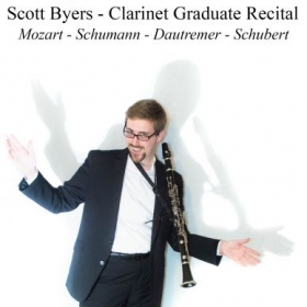Self-created poster advertisement for Graduate recital in my masters degree in clarinet performance.