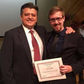Outstanding Award for my service for the clarinet studio at Texas State University, from my cherished mentor Dr. Vanguel Tangarov.