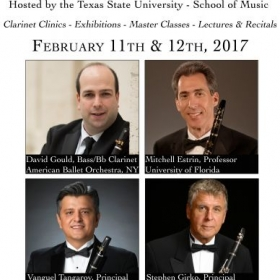 Created advertisement for the guest performances of several guest clarinet artists for the 2017 Clarinet Fiesta!