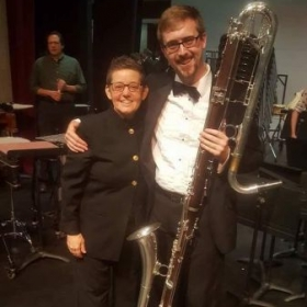 My last performance with the TxState Wind Symphony with Dr. Beatty. What fun I had to play the Contrabass clarinet for you!