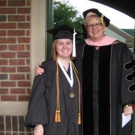 Me with Dr. Helen VanWyck, my college music professor