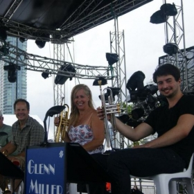 With the Glenn Miller Orchestra in Bangkok, Thailand. 2012.