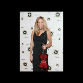 Red carpet violinist.