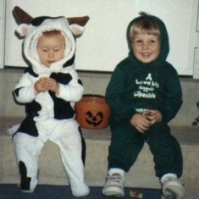 Didn't have a pattern for the cow either. It was my son's first costume, my daughter is wearing it.