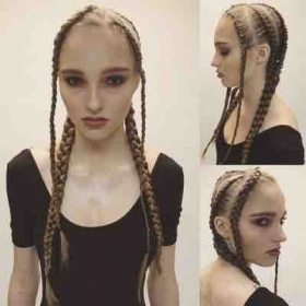 Editorial braiding and makeup on Stefanie Tedards of AZ Model Management, Stars SF, One NY, Brave MILAN, Synergy HK. Photos by Colin Hand.