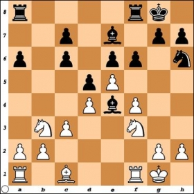 The 1st critical moment in my game with FM Macon Shibut, who had Black. How should White proceed?