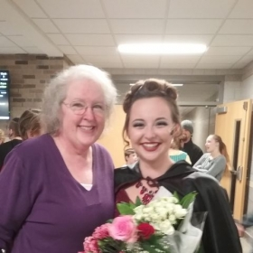 Student Ashley H. knocked it out of the park as the Witch in Into The Woods. Fall 2016