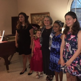 Some of the stellar students from our most recent studio recital in May!