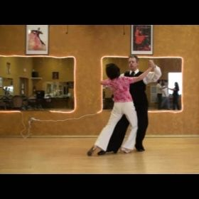 Brett (with Betty), Domonstrating a Ballroom Tango Corte'