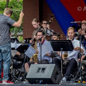 With the Adam Meckler Orchestra Live at Lowertown Jazz Festival Main Stage