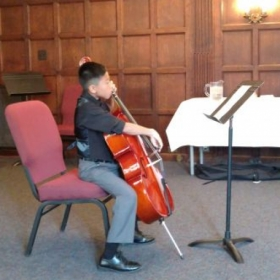 Performing on the spring recital