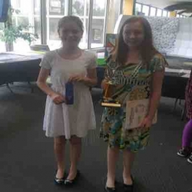 A couple of my Grace's receiving awards at the Illinois Music Assn. 2017