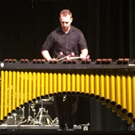 Playing a little four mallet marimba for my grad recital