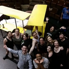 "Group shot of the cast from ""The Drowsy Chaperone"""