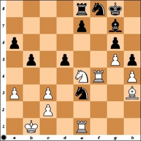 Versus NM Vishal Kobla. With a complex position and White threatening Nf6+ in some lines, I went astray. What is Black's best continuation?