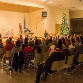 Taking in a beautiful vocal performance at our 2016 Christmas Recital! 🎄