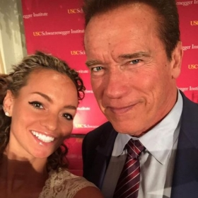 With the one and only Arnold! :)