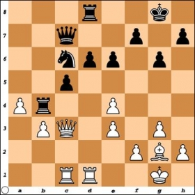 Taken from my 2nd win over FM Macon Shibut. Black has just played Rb4. Does White have a decisive break?