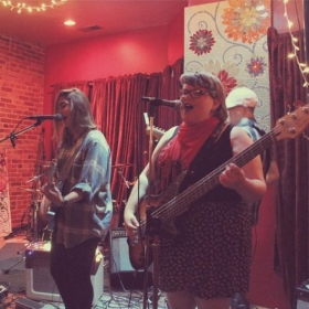 Singing and playing bass for Accidental Ghost (2015-2017), a DC-based indie pop band. I also served as their main songwriter.