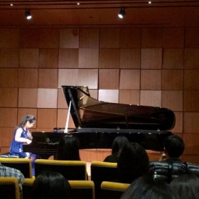 Performing Après une Lecture de Dante: Fantasia quasi Sonata by Franz Liszt at Steinway Hall in NYC, February 2017.