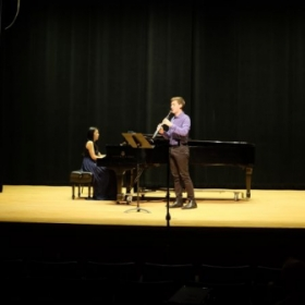 In recital at Rowan University's Boyd Recital Hall. Works by Brahms, Copland, and Bartok.