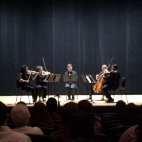 In recital at Rowan University's Boyd Recital Hall. Works by Schumann and Brahms.