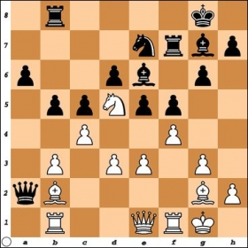 FM Andrew Samuelson has just played Qxa2 seemingly winning a pawn. What is the right way to take advantage of Black's misplaced Queen?