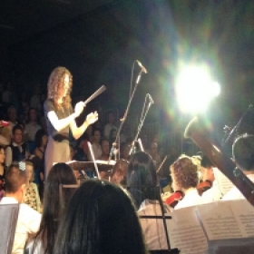 Conducting a Mozart piano concerto at the FOBISEA music conference in Bangkok, Thailand in 2013