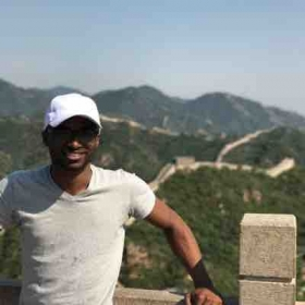 By the Great Wall of China!