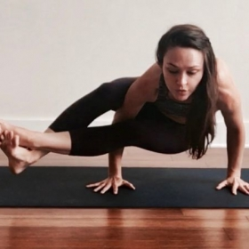 Eight-angle pose (astavakrasana)