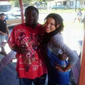 "On the set of ""Friday Night Lights"" with Jurnee Smollett"