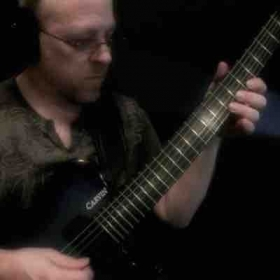 Scott with his Carvin HH2X