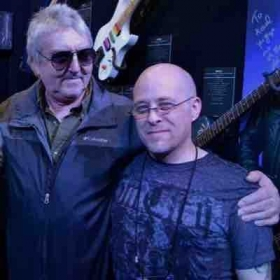 Scott with guitar legend Allan Holdsworth
