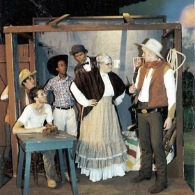 as Aunt Eller in a Cordova HS production of Oklahoma!