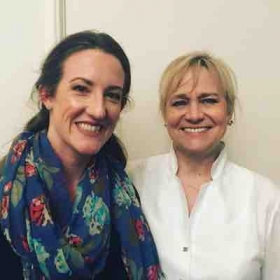 With conductor Miriam Burns post-performance with the McLean Orchestra in May 2017.