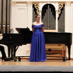 A photo from my senior recital!