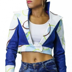 Custom Crop Top Jacket. Designed and Made By Me.