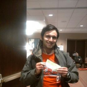 Me and my first place check prize from the 2013 Liberty Bell Chess Open for the U1500 section.