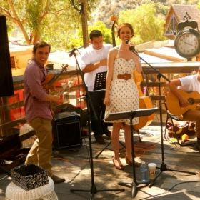 O.C. Gypsy Jazz playing at the Laguna Beach Sawdust Festival