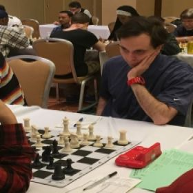 Me playing at the 2017 Philadelphia Open Chess Tournament.