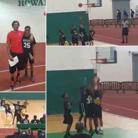 Supporting one of my players at Boo Williams Sports-complex!