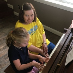 Presley is a wonderful student to work with.  She practices faithfully and has grown.