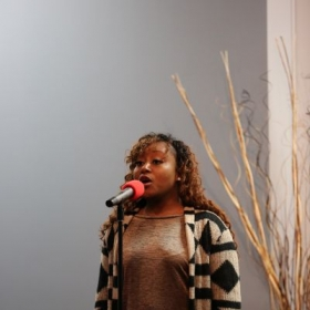 Student Performance During the Annual Open Mic Night