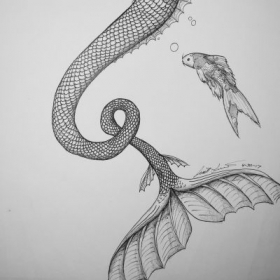 Sharpie pen and pencil