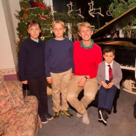 A little snapshot of my recital with the boys in my studio at the Winter 2016 Piano Recital!