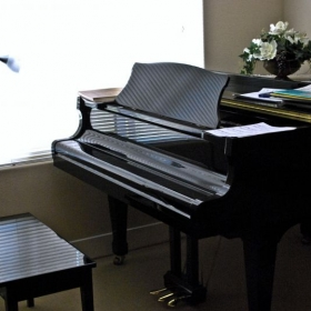 My beloved piano that I grew up playing since the age of 8.