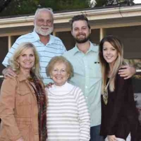 Myself, parents, grandmother, and fiancé