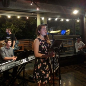 Performing at Eureka (Claremont, CA).